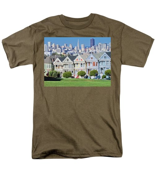 Men's T-Shirt  (Regular Fit) featuring the photograph Alamo Square by Matthew Bamberg