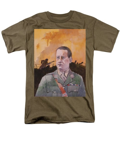 Men's T-Shirt  (Regular Fit) featuring the painting Albert Jaka Vc by Ray Agius