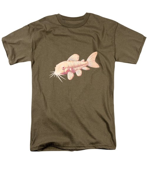 Albino Cory Catfish Men's T-Shirt  (Regular Fit) by Lucy Niedbala