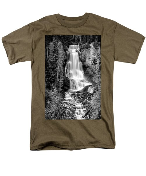 Men's T-Shirt  (Regular Fit) featuring the photograph Alexander Falls - Bw 1 by Stephen Stookey