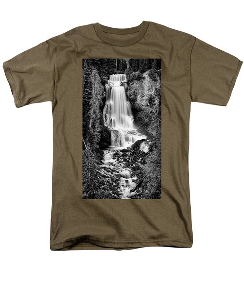 Men's T-Shirt  (Regular Fit) featuring the photograph Alexander Falls - Bw 2 by Stephen Stookey