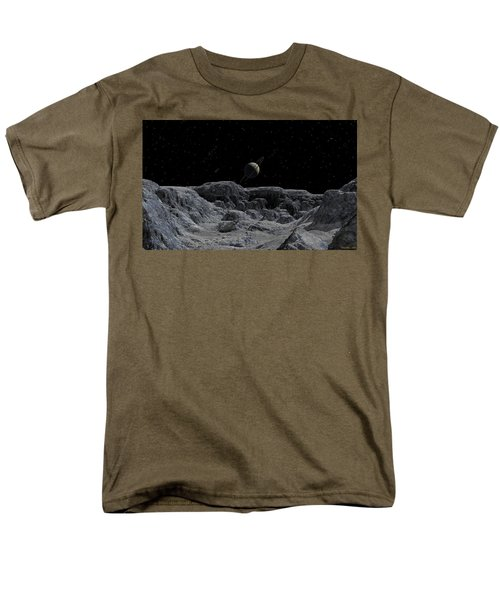 Men's T-Shirt  (Regular Fit) featuring the digital art All Alone by David Robinson