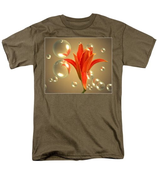 Men's T-Shirt  (Regular Fit) featuring the photograph Almost A Blossom In Bubbles by Joyce Dickens