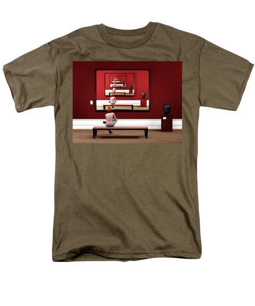 Alone In My Gallery Men's T-Shirt  (Regular Fit)