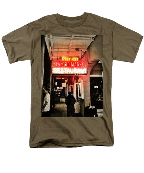 Men's T-Shirt  (Regular Fit) featuring the photograph Along Bourbon Street - New Orleans by Glenn McCarthy Art and Photography