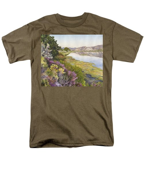 Men's T-Shirt  (Regular Fit) featuring the painting Along The Oregon Trail by Anne Gifford