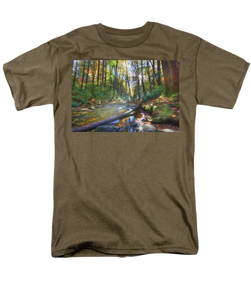 Along The Trail In Georgia Men's T-Shirt  (Regular Fit) by Sharon Batdorf