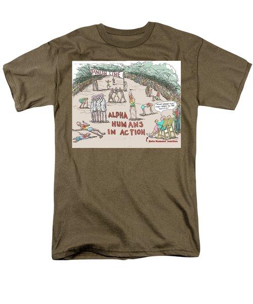Alpha V. Beta Men's T-Shirt  (Regular Fit)