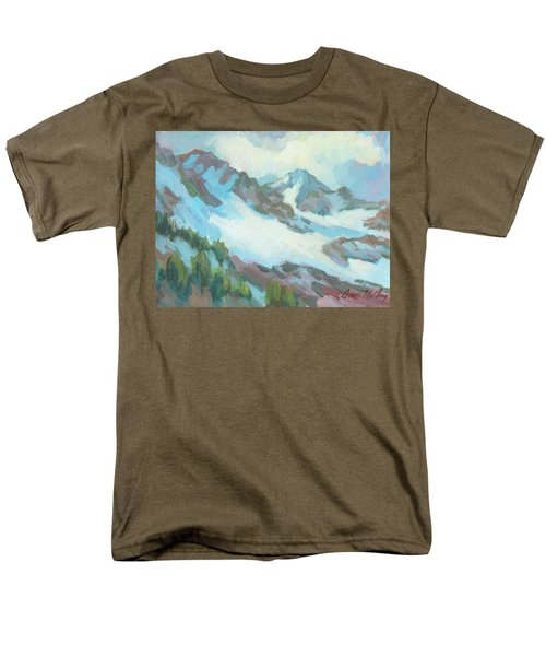 Men's T-Shirt  (Regular Fit) featuring the painting Alps In Switzerland by Diane McClary