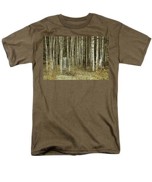 Men's T-Shirt  (Regular Fit) featuring the photograph Alvarado Cemetery 42 by Marie Leslie