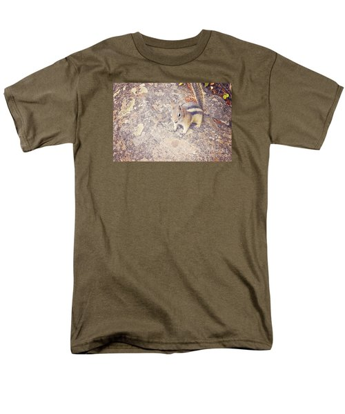 Men's T-Shirt  (Regular Fit) featuring the photograph Alvin The Chipmunk by Janie Johnson