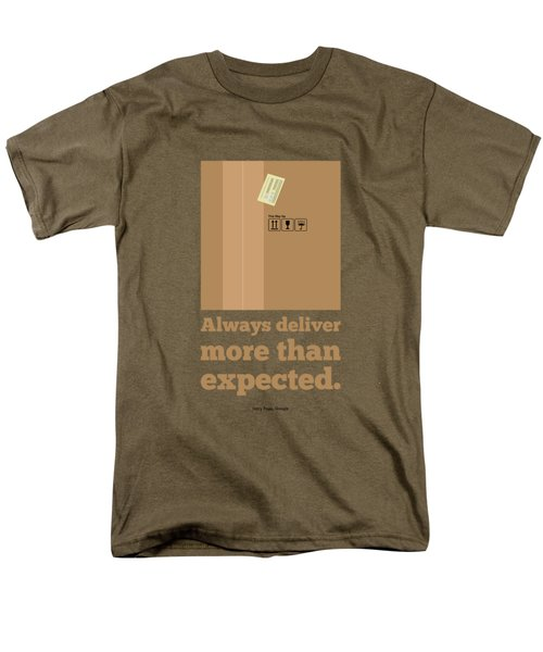 Always Deliver More  Than Expected Inspirational Quotes Poster Men's T-Shirt  (Regular Fit) by Lab No 4 - The Quotography Department