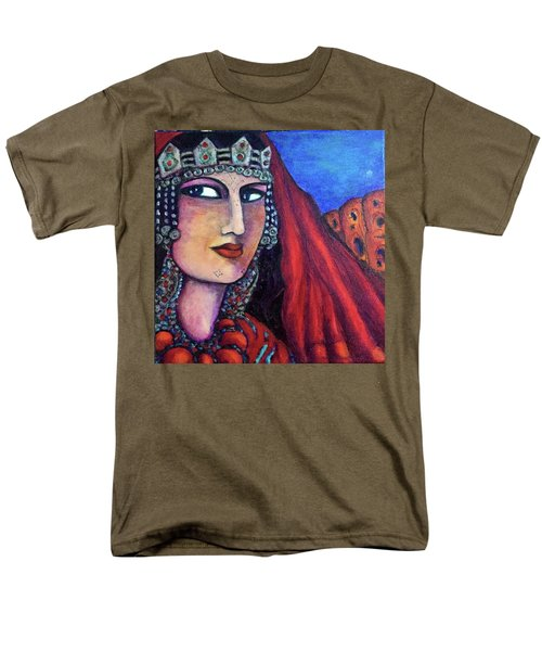 Men's T-Shirt  (Regular Fit) featuring the painting Amazigh Beauty 1 by Rae Chichilnitsky