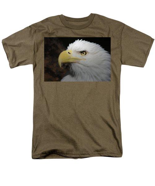 Men's T-Shirt  (Regular Fit) featuring the digital art American Bald Eagle Portrait 2 by Ernie Echols