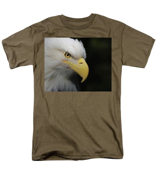 Men's T-Shirt  (Regular Fit) featuring the digital art American Bald Eagle Portrait 4 by Ernie Echols