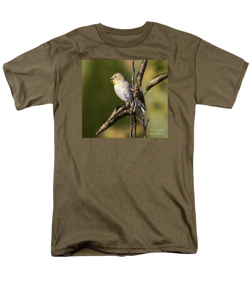 Men's T-Shirt  (Regular Fit) featuring the photograph American Goldfinch In Fall Colors  by Ricky L Jones