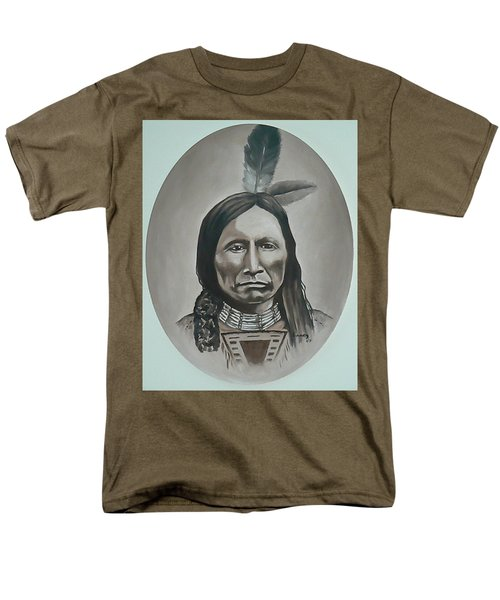 Men's T-Shirt  (Regular Fit) featuring the painting American Horse by Michael  TMAD Finney
