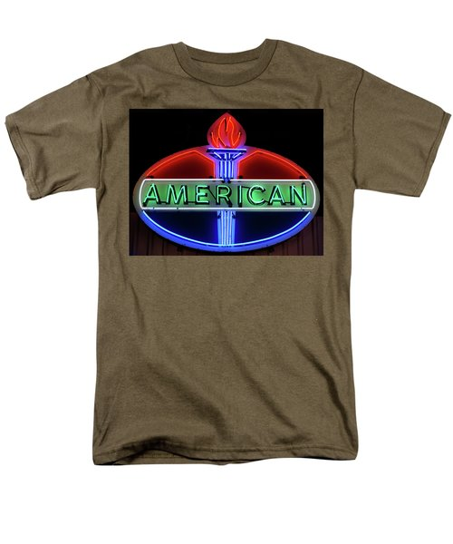 Men's T-Shirt  (Regular Fit) featuring the photograph American Oil Sign by Sandy Keeton