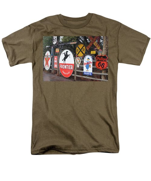 Americana Rt.66 Men's T-Shirt  (Regular Fit) by Elvira Butler