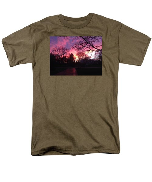 Amethyst Sunset Men's T-Shirt  (Regular Fit) by Rebecca Wood