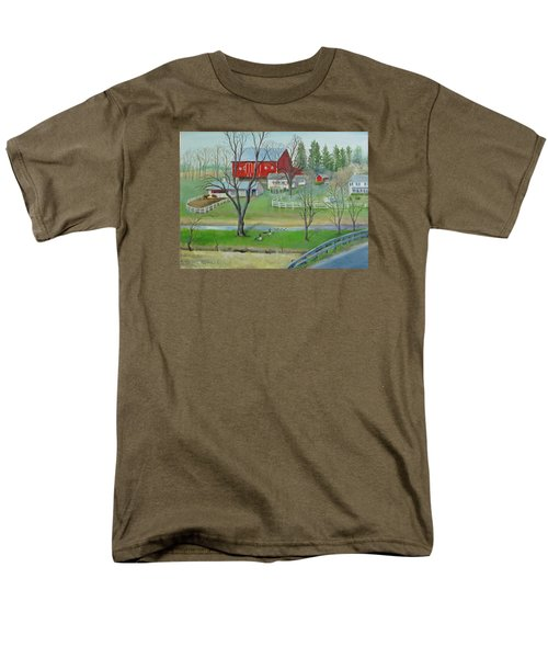 Amish Farm Men's T-Shirt  (Regular Fit) by Oz Freedgood