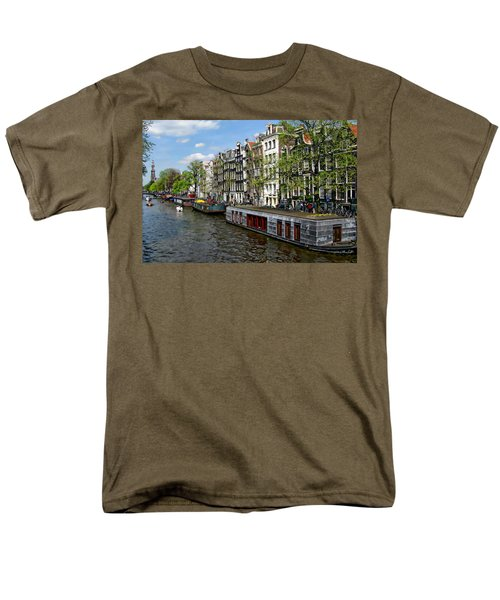 Amsterdam Canal Men's T-Shirt  (Regular Fit) by Anthony Dezenzio