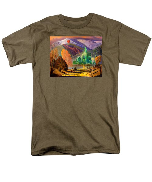 Men's T-Shirt  (Regular Fit) featuring the painting Oz, An American Fairy Tale by Art West