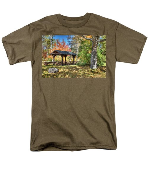 Men's T-Shirt  (Regular Fit) featuring the photograph An Autumn Picnic In Maine by Shelley Neff