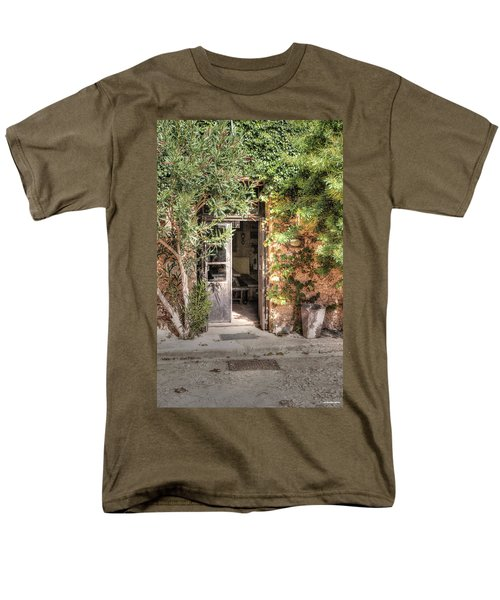 Men's T-Shirt  (Regular Fit) featuring the photograph An Entrance In Santorini by Tom Prendergast