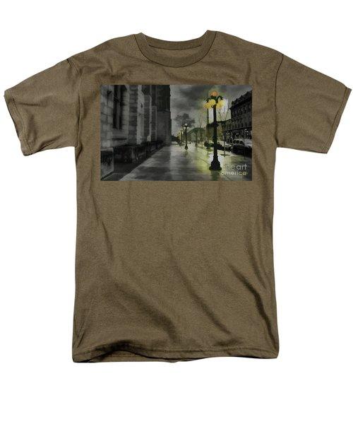 Men's T-Shirt  (Regular Fit) featuring the mixed media An Evening In Paris by Jim  Hatch
