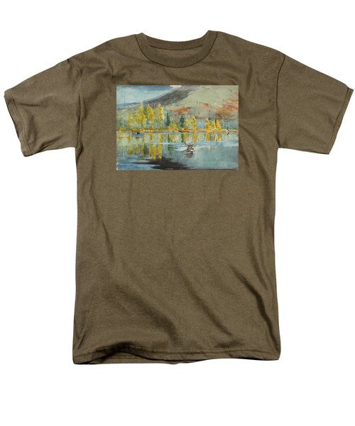 Men's T-Shirt  (Regular Fit) featuring the painting An October Day by Winslow Homer