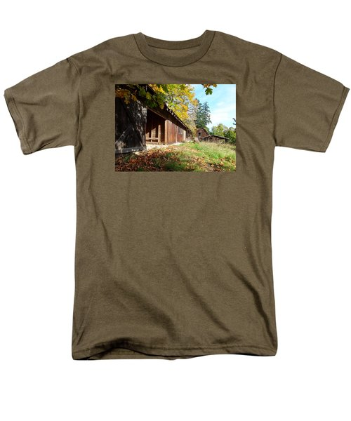 Men's T-Shirt  (Regular Fit) featuring the photograph An Old Farm by Mark Alan Perry