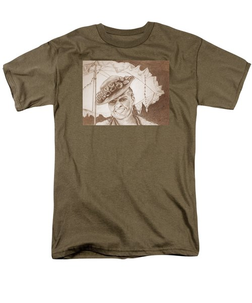 An Old Fashioned Girl In Sepia Men's T-Shirt  (Regular Fit) by Antonia Citrino