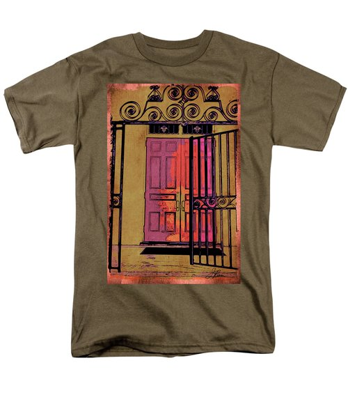 An Open Gate Men's T-Shirt  (Regular Fit) by Joan Reese