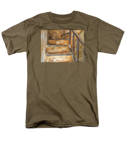 Ancient Stairway Men's T-Shirt  (Regular Fit) by Roberta Byram