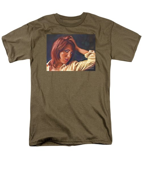 Men's T-Shirt  (Regular Fit) featuring the photograph Angel  No. 14... by Chuck Caramella
