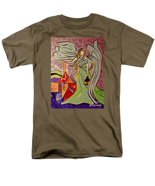 Men's T-Shirt  (Regular Fit) featuring the painting Angel  by AmaS Art