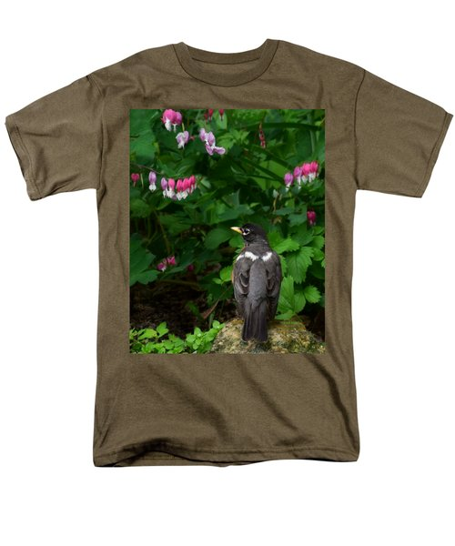 Angel In The Garden Men's T-Shirt  (Regular Fit) by Kathy M Krause