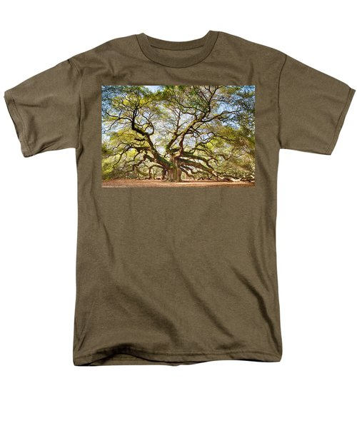 Men's T-Shirt  (Regular Fit) featuring the photograph Angel Oak In Spring by Patricia Schaefer