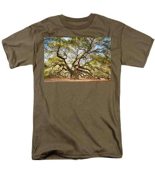 Angel Oak In Spring Men's T-Shirt  (Regular Fit) by Patricia Schaefer