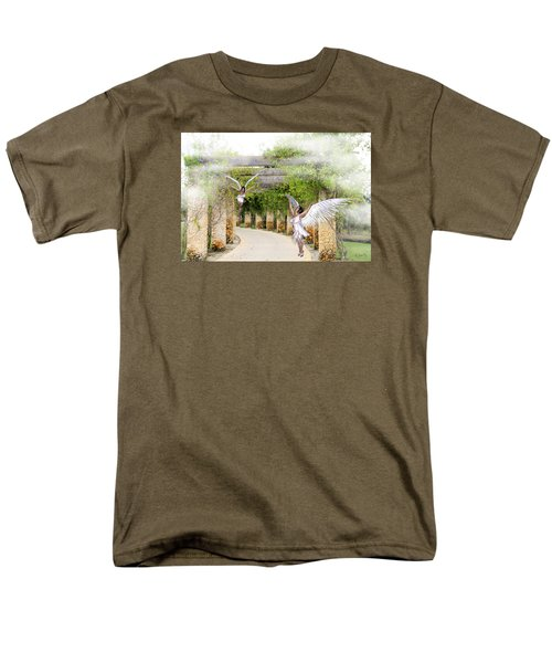 Angels Under The Arbor Men's T-Shirt  (Regular Fit) by Rosalie Scanlon