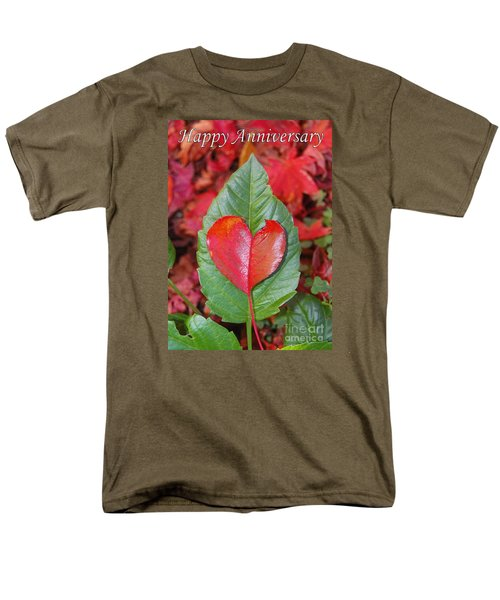 Anniversary Nature Greeting Card Men's T-Shirt  (Regular Fit) by Debra Thompson