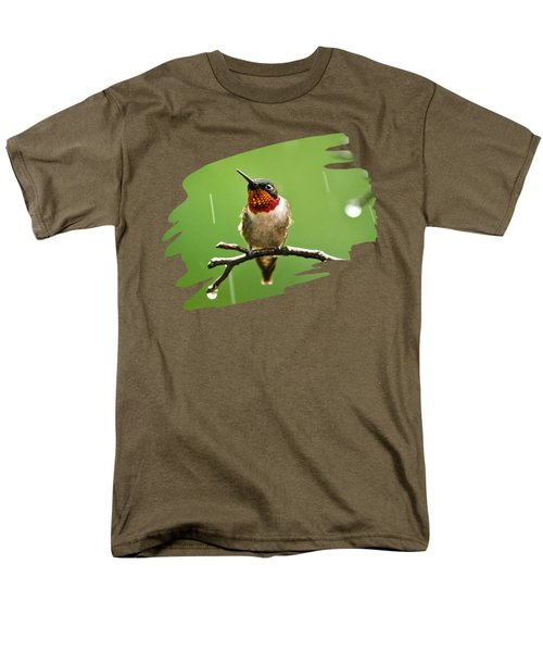 Another Rainy Day Hummingbird Men's T-Shirt  (Regular Fit) by Christina Rollo