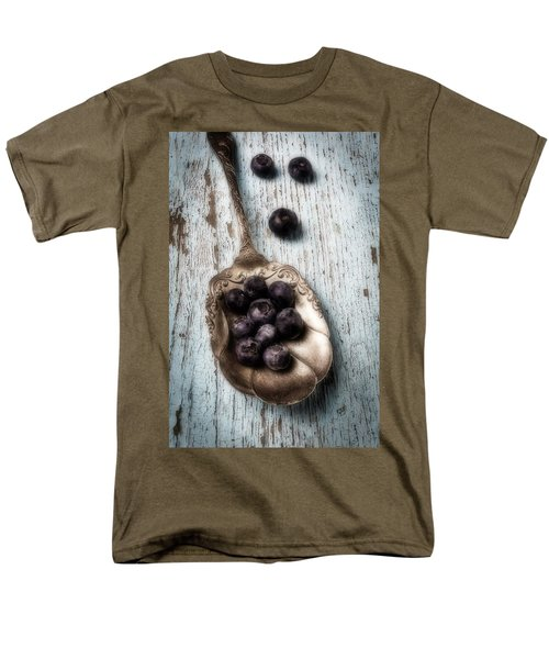 Antique Spoon And Buleberries Men's T-Shirt  (Regular Fit) by Garry Gay