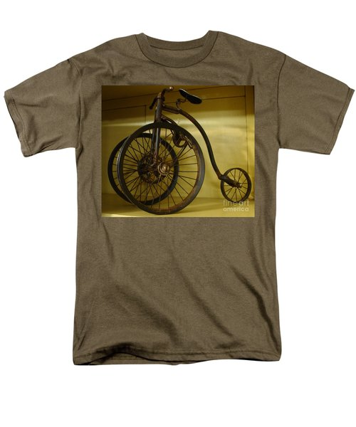 Men's T-Shirt  (Regular Fit) featuring the painting Anyone For A Bike Ride?  by Rod Jellison