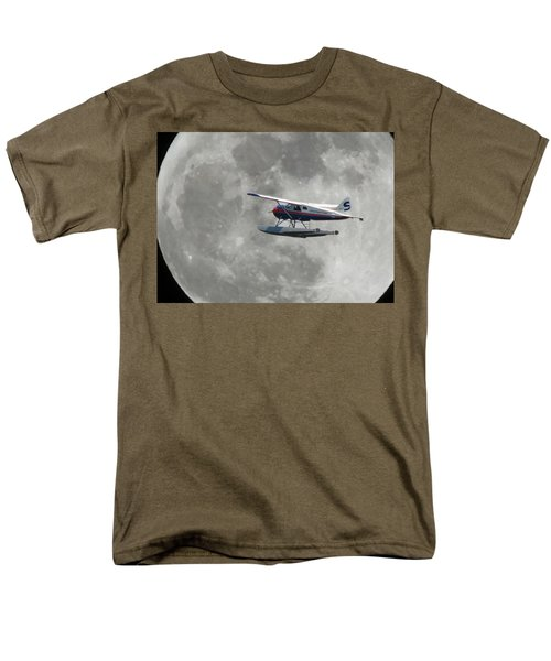 Men's T-Shirt  (Regular Fit) featuring the photograph Aop And The Full Moon by Mark Alan Perry