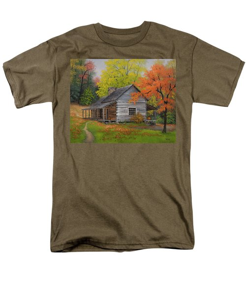 Appalachian Retreat-autumn Men's T-Shirt  (Regular Fit) by Kyle Wood