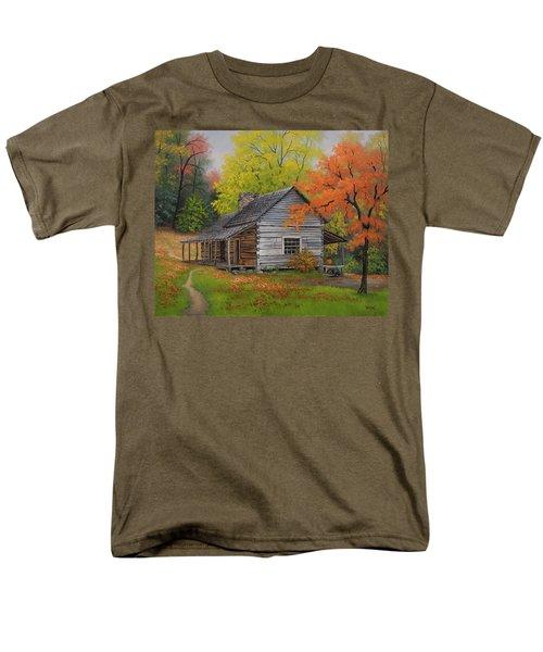 Appalachian Retreat-autumn Men's T-Shirt  (Regular Fit)