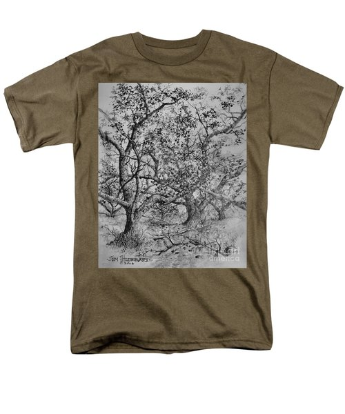 Men's T-Shirt  (Regular Fit) featuring the drawing Apple Orchard by Jim Hubbard