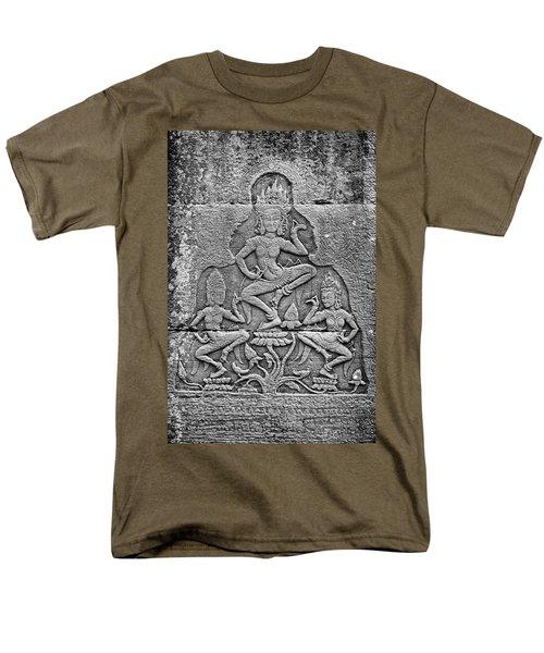 Men's T-Shirt  (Regular Fit) featuring the photograph Apsaras 3, Angkor, 2014 by Hitendra SINKAR